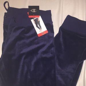 Pants - Champion navy blue velvet joggers
